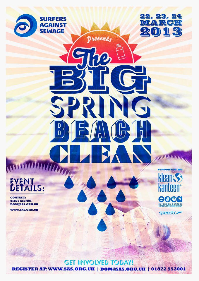 Surfers Against Sewage bring their Big Spring Beach Clean to Rest Bay on 24th March 11pm. All welcome.